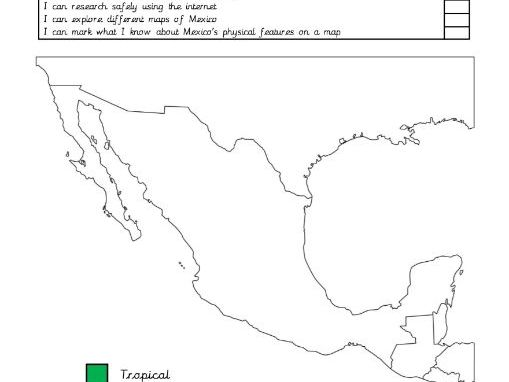 Mayan themed physical geography/ features of Mexico