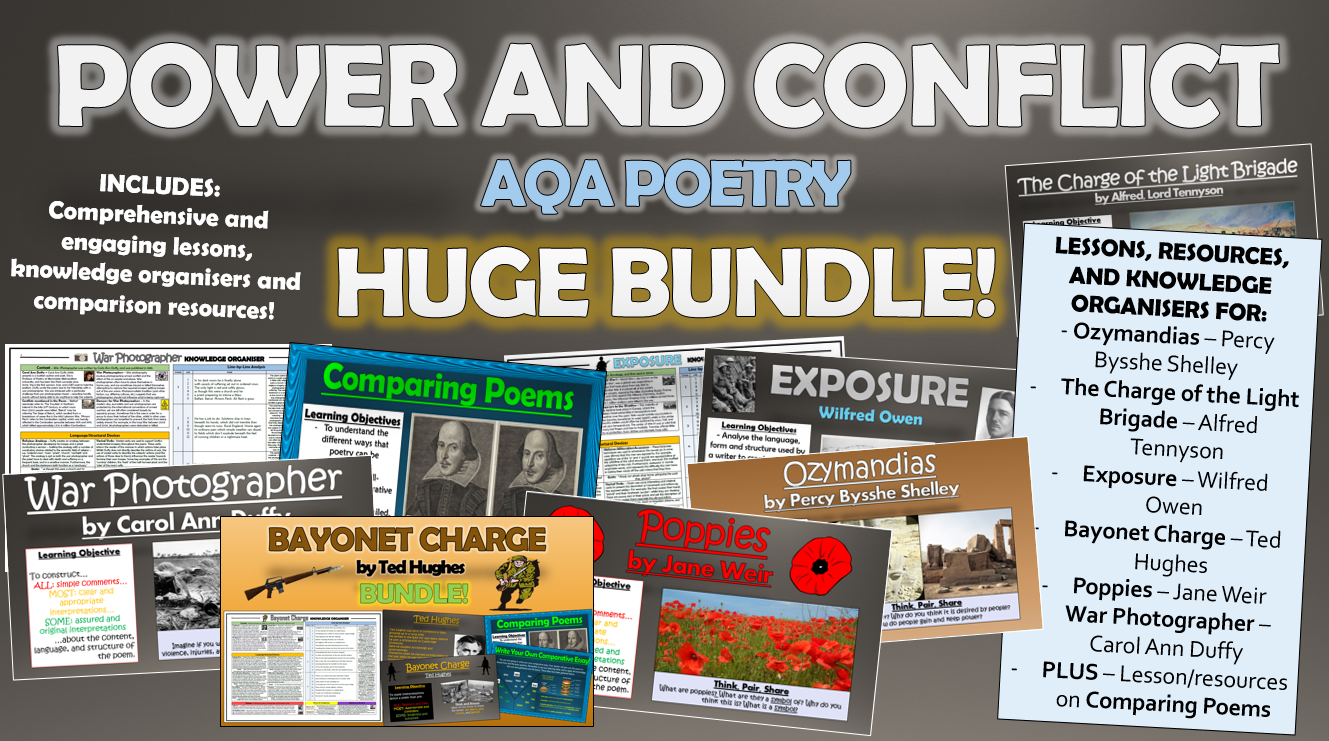 AQA Power and Conflict Poetry Huge Bundle!