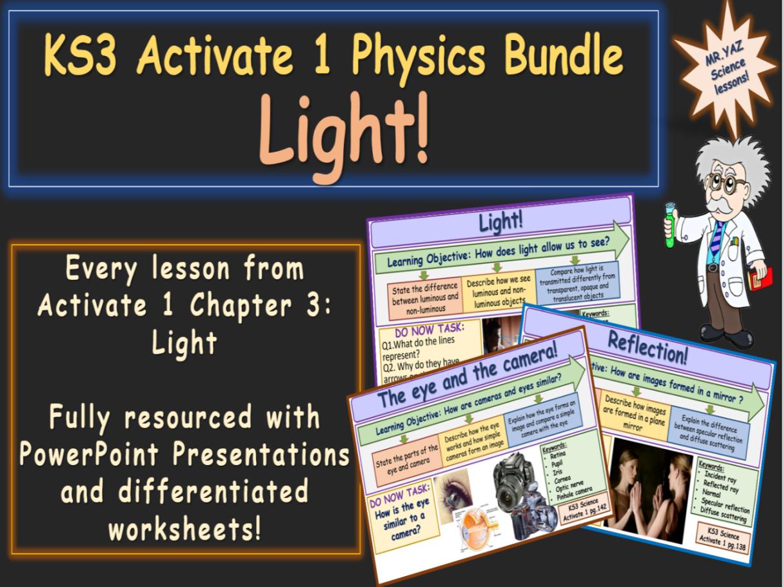 Light Activate 1 KS3 Science bundle