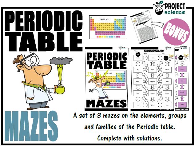 Periodic Table Mazes
