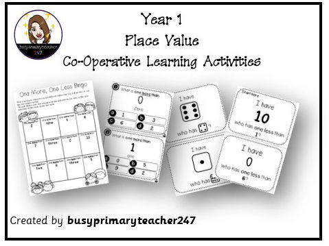 Year 1 - Place Value - Cooperative Learning Activities numbers 0-10