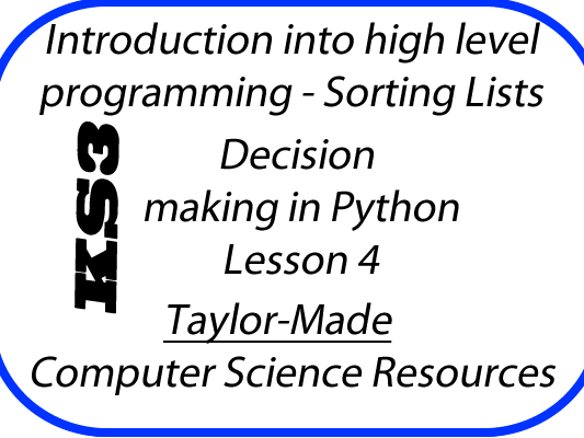 Python Decision Making L4 - Sorting Lists