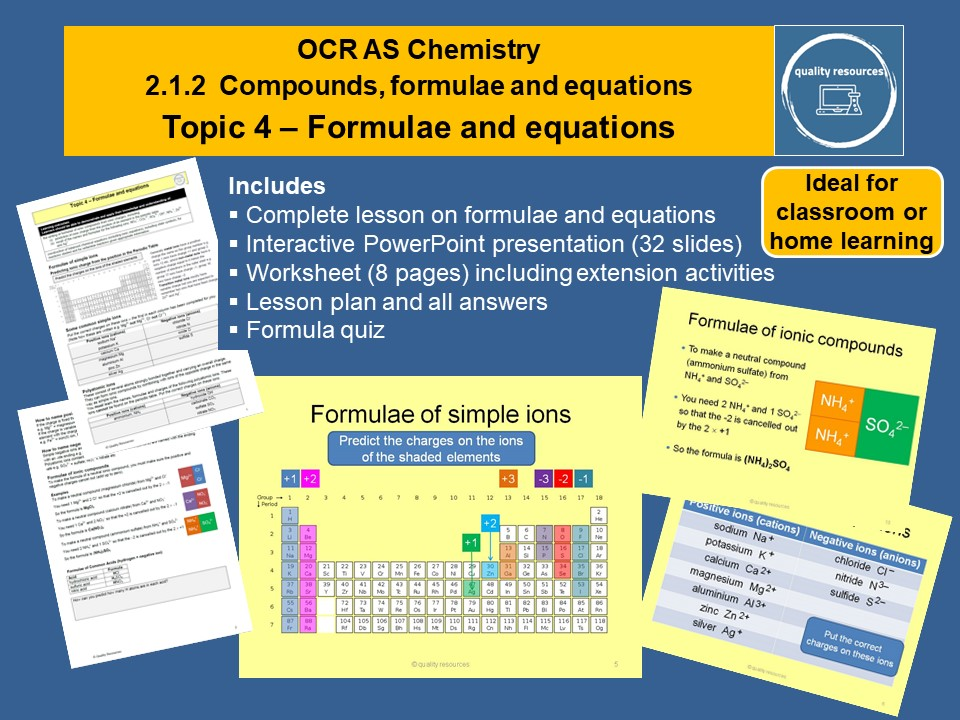 Formulae and equations OCR AS Chemistry