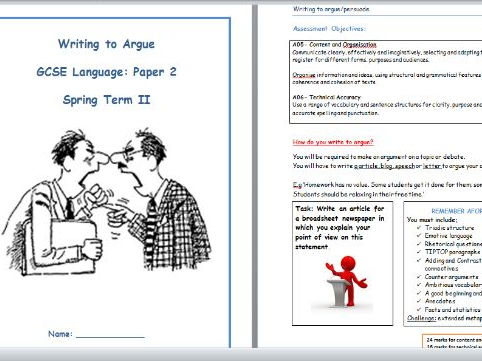 GCSE AQA Language Paper 2 - Question 5 Revision