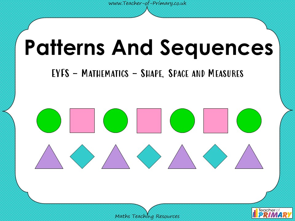 Patterns and Sequences - EYFS