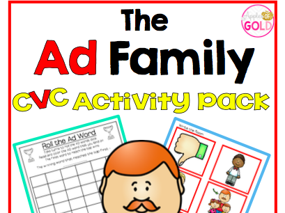 The Ad Family- CVC Activity Pack