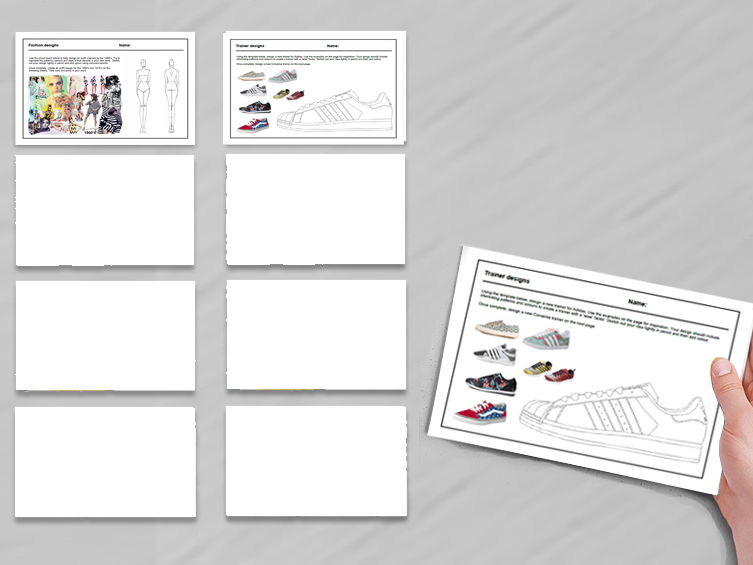 2 activities for Textiles cover work / cover lessons - Tried and tested worksheets