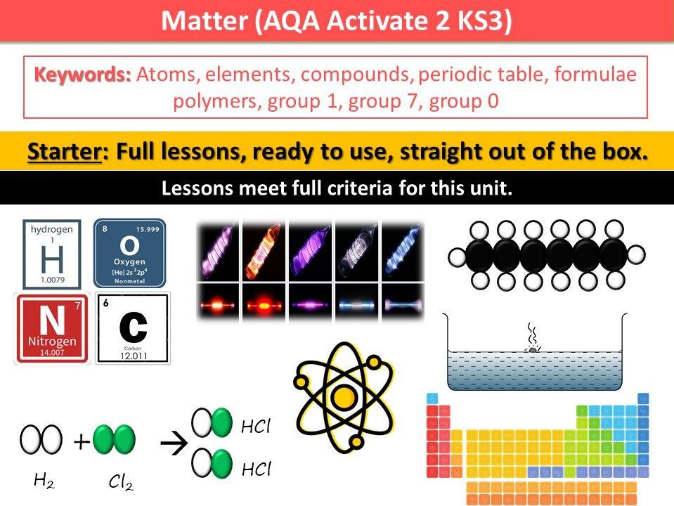 Matter (AQA Activate 2 KS3)