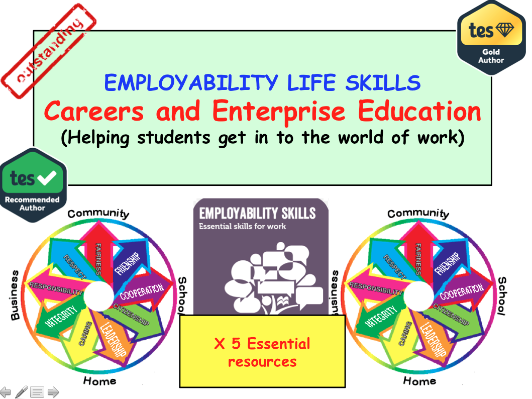 Employability Work skills Jobs and Careers Bundle