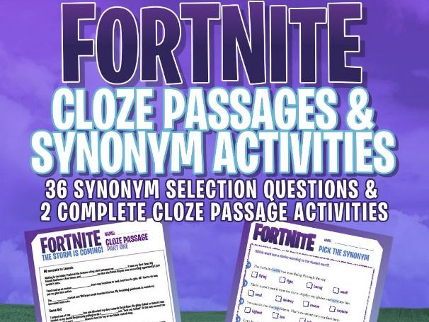 fortnite - grammar activities