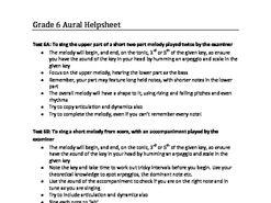 ABRSM Grade 6 Aural test help sheet
