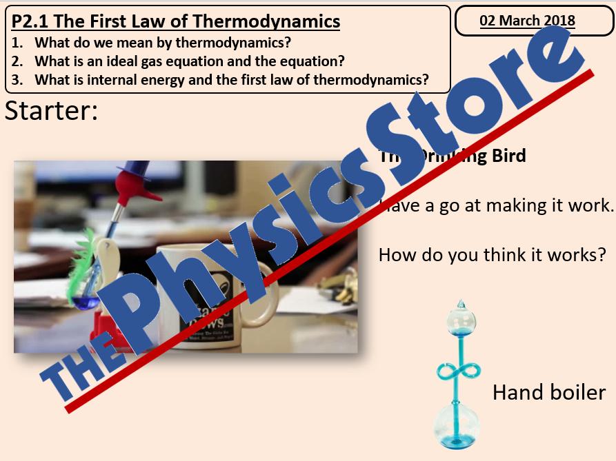 KS5 AQA A Level Physics  Option C Engineering Physics  The First Law of Thermodynamics