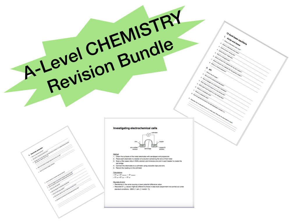 A-Level CHEMISTRY Revision Bundle