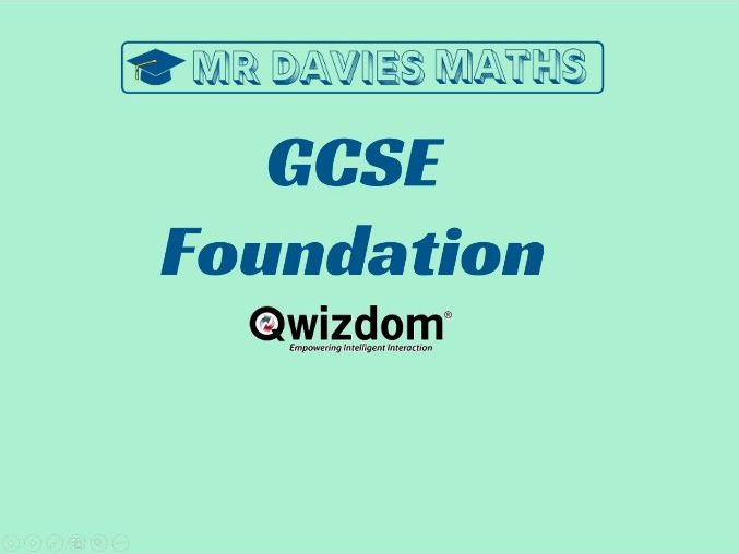 Maths QWIZDOM - GCSE FOUNDATION Revision Topics Quiz 250 Questions