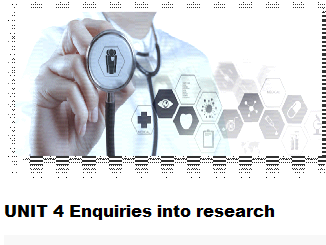Unit 4 Enquiries into research Learning aims A, B, C.