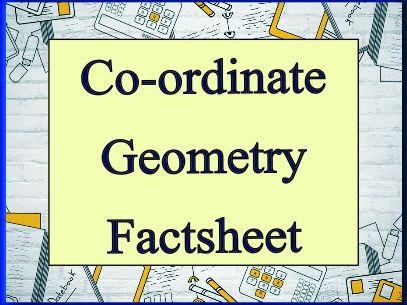 Co-ordinate Geometry Factsheet