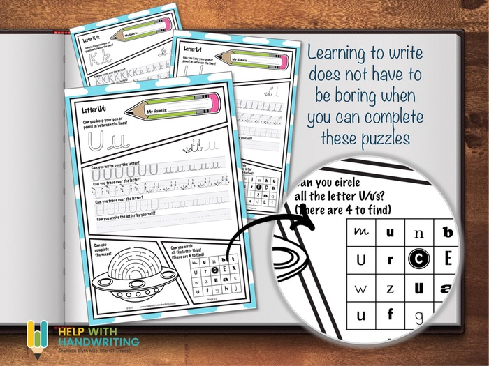 Letters, numbers cursive worksheets