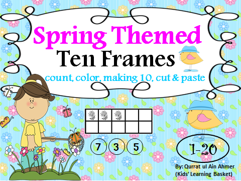 Spring Themed Ten Frames Activity1-20