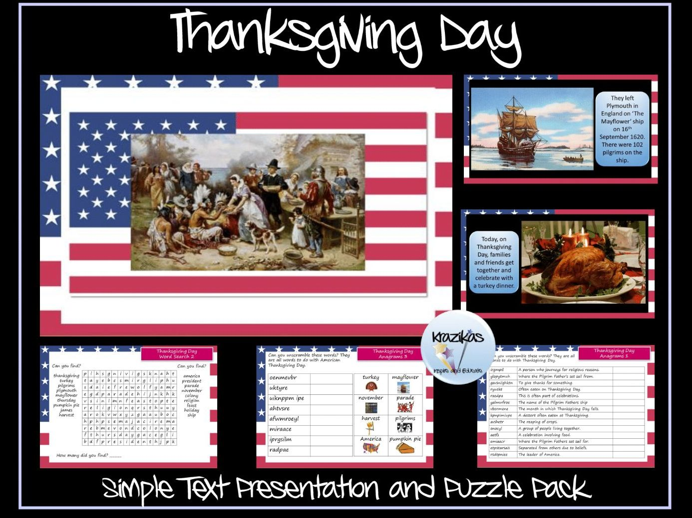 Thanksgiving Day Puzzle Pack