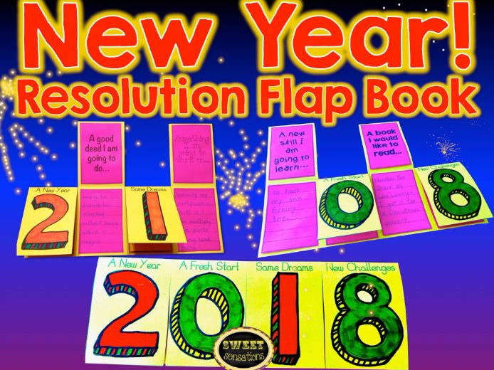 New Year Resolution Flap Book