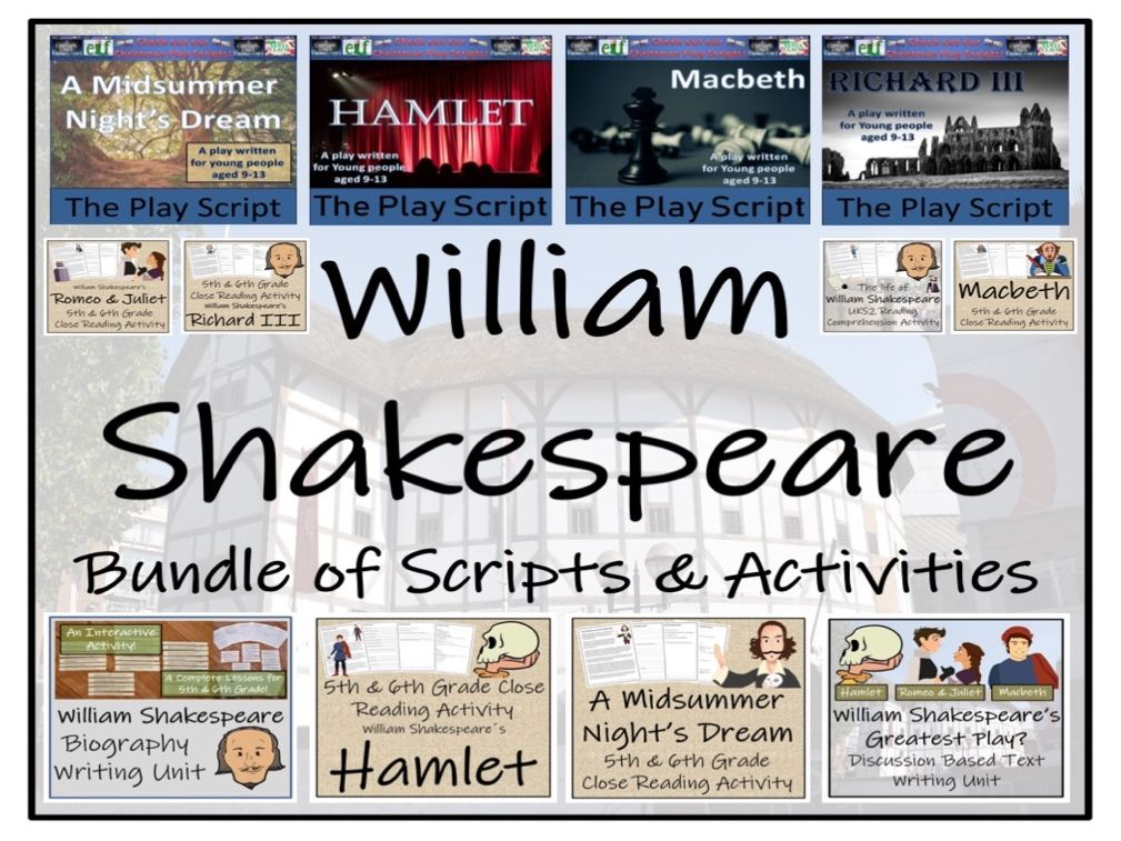 UKS2 Literacy - William Shakespeare Mega Bundle of Play Scripts & Activities