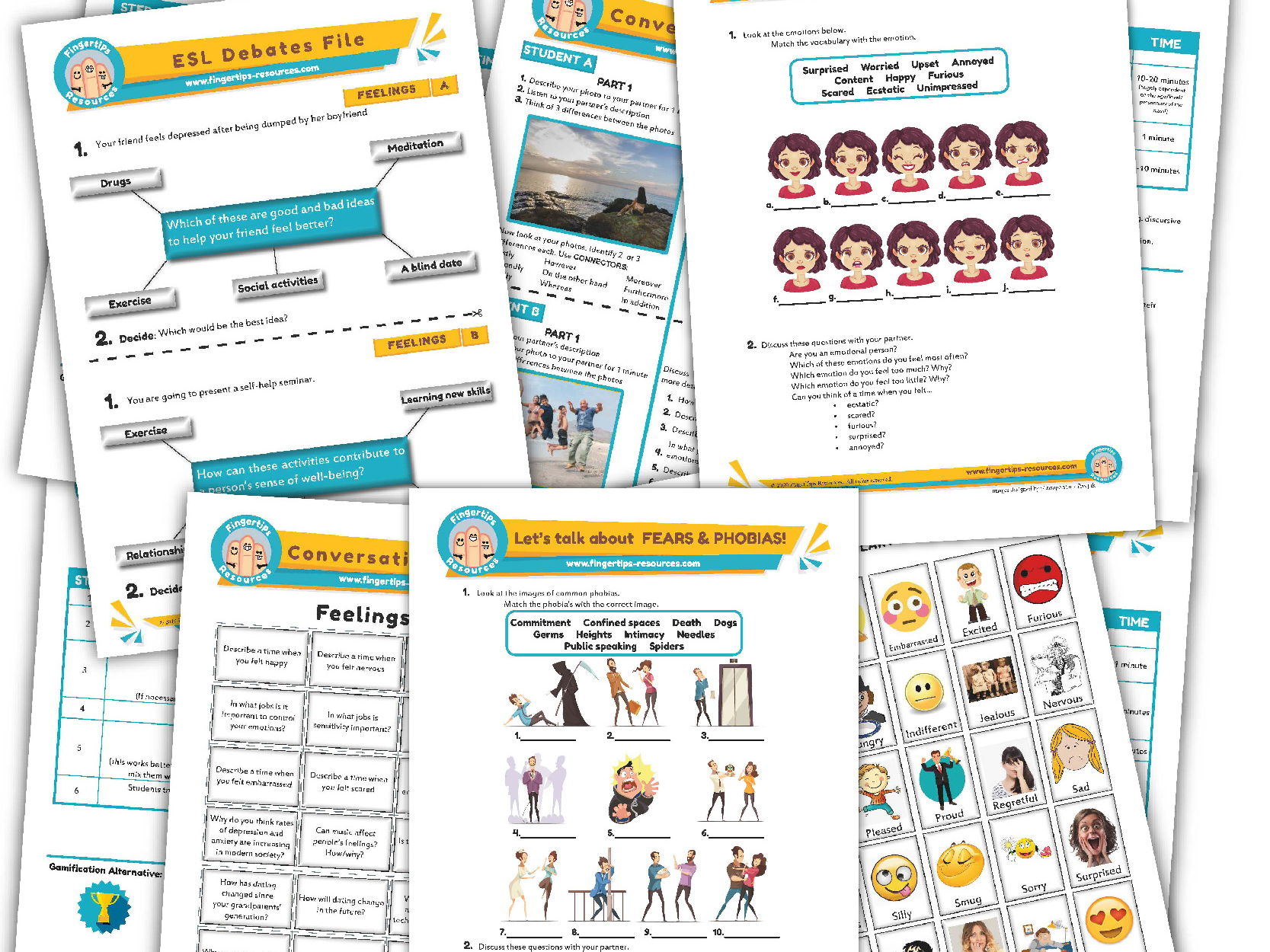 Feelings & Emotions Unit - ESL Activity Bundle