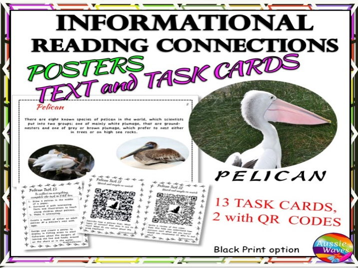 Reading Non-Fiction Informational Text and Task Cards BIRDS PELICANS
