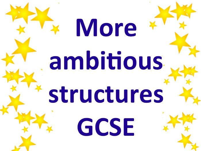 Les structures complexes au GCSE / Complex structures GCSE A*/9
