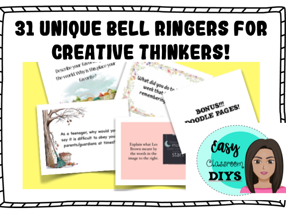 31 Unique Bell Ringers for Creative Thinkers