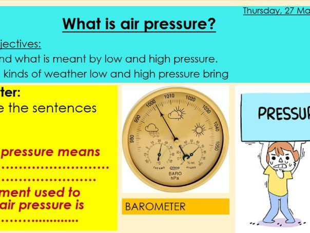 Weather and climate - Air pressure