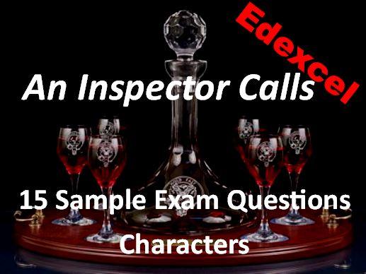 An Inspector Calls Edexcel Sample Exam Questions Characters