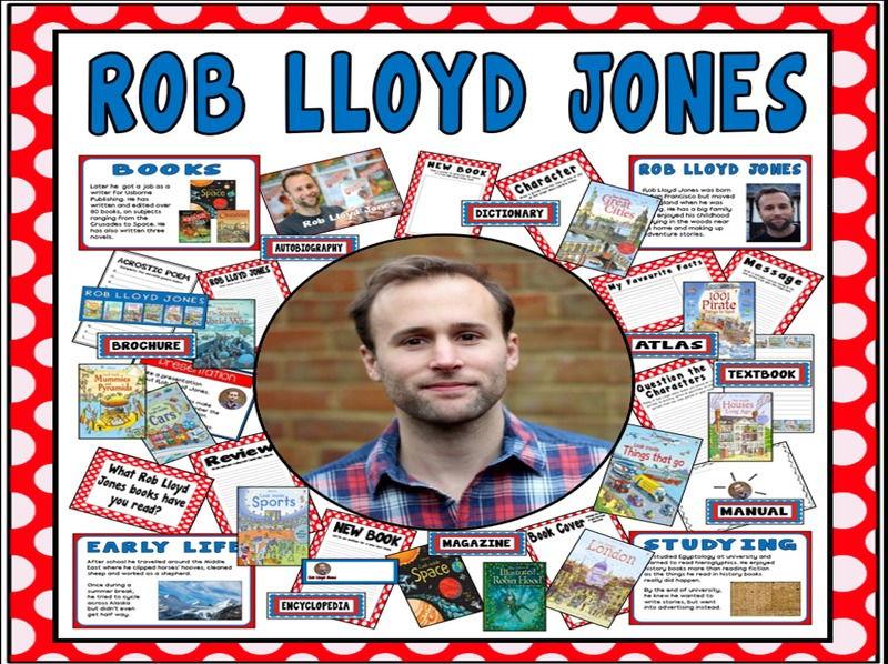 ROB LLOYD JONES TEACHING DISPLAY RESOURCES ENGLISH READING KS1-2 AUTHOR