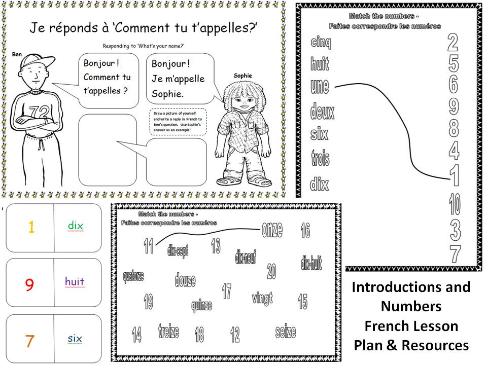 Introductions and Numbers French Lesson KS1/2