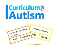 Fact or Opinion Sentences Clip Cards, Autism, Speech Therapy, SEND