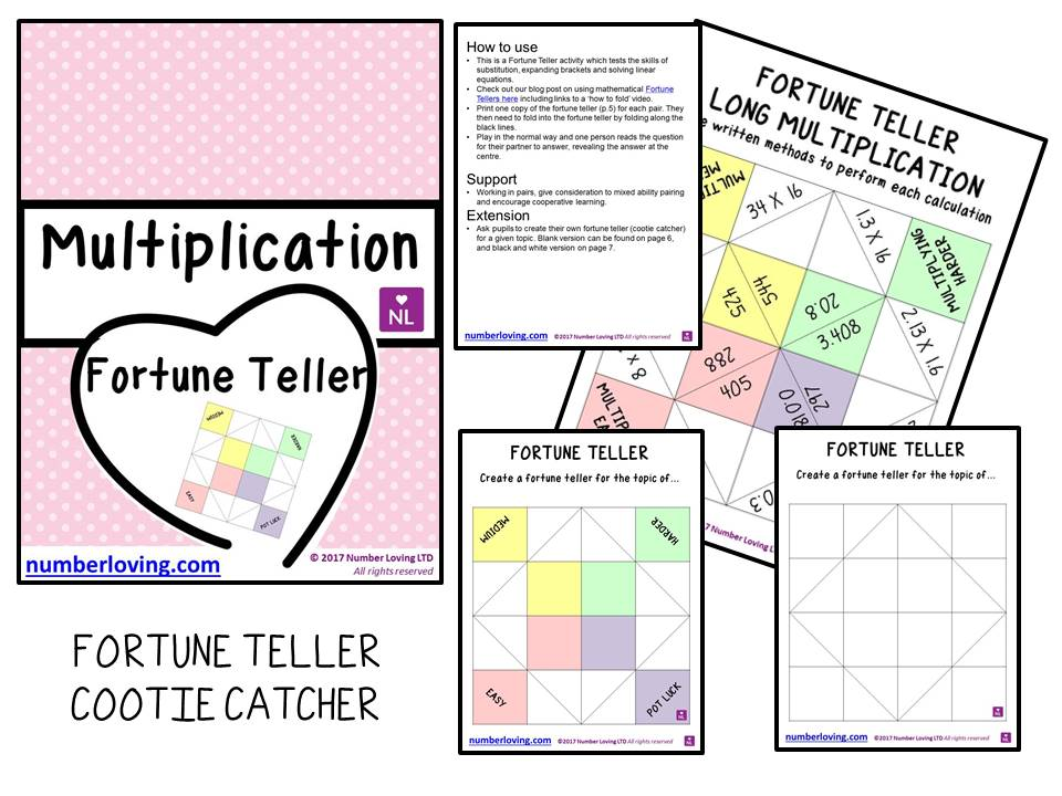 Long Multiplication Fortune Teller