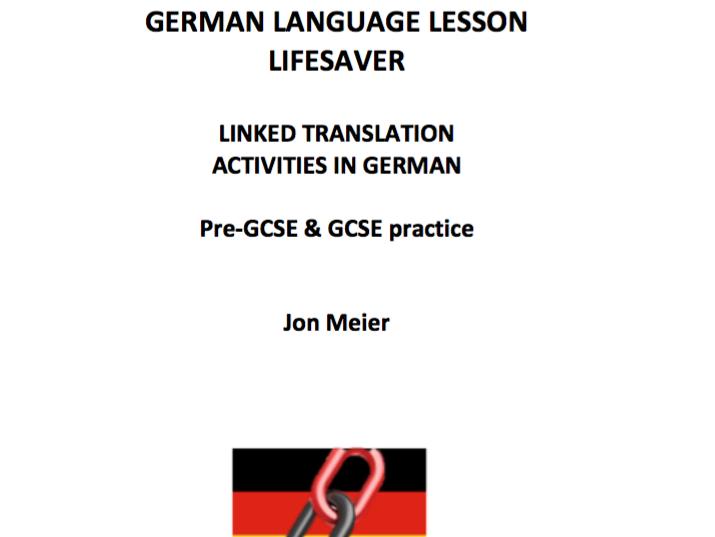 German Linked Translation Lifesaver Booklet