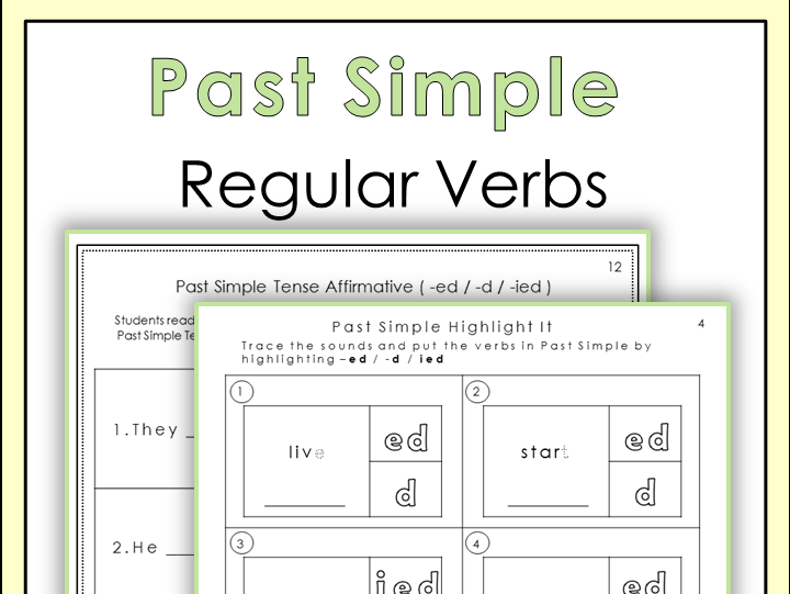 Past Simple Tense Regular Verbs Worksheets