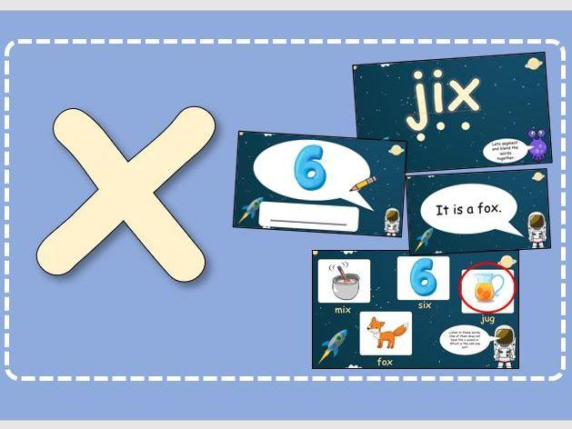 Phase 3 Set 6 Phonics  (j, v, w, x)