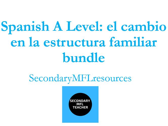 Spanish A Level Family Changes Bundle: los cambios en la familia, el matrimonio, el divorico