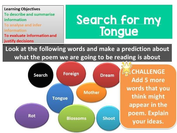Search for my Tongue - Sujata Bhatt