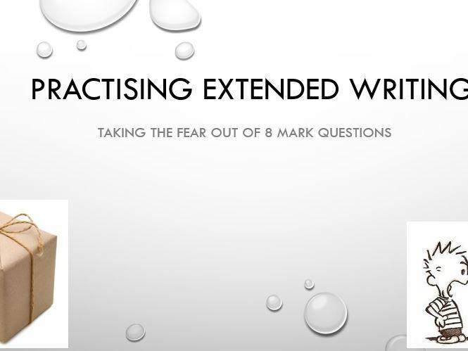 8/9 Mark Question Revision Edexcel A