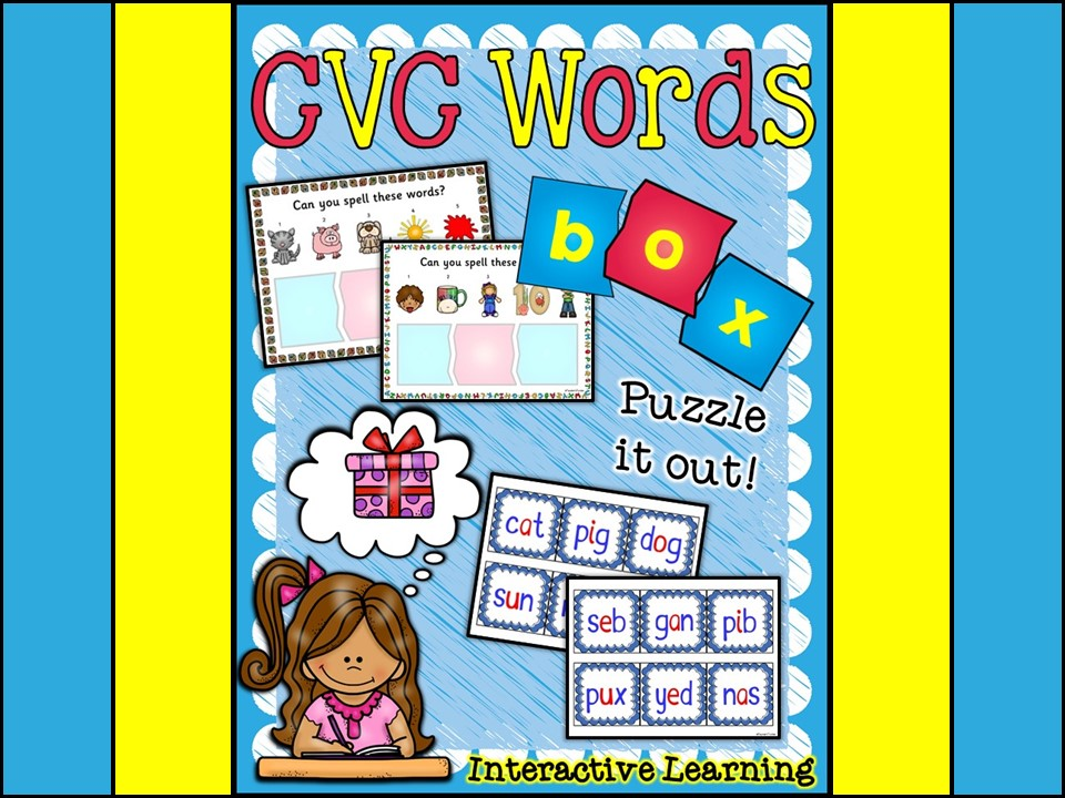 CVC Words:  CVC Words Learning Stations