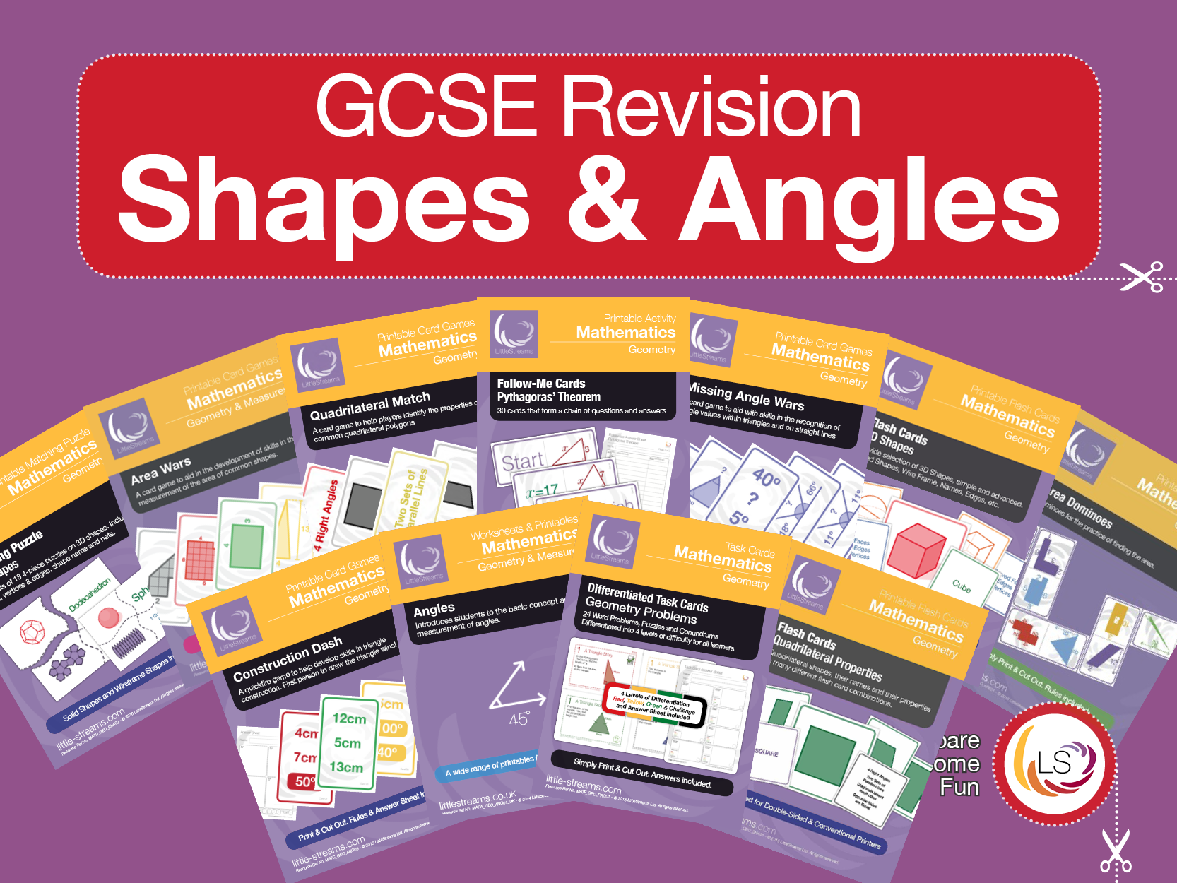 Geometry - Shapes and Angles GCSE Revision Activities