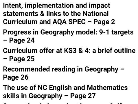 GEOGRAPHY DEPARTMENT HANDBOOK