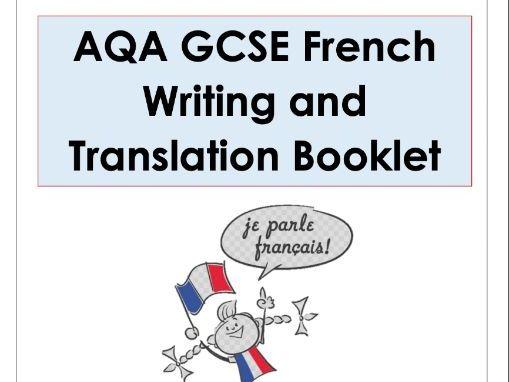 GCSE AQA French Writing and Translation booklet