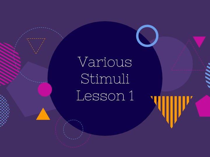 Dance Choreography: Various Stimuli L1