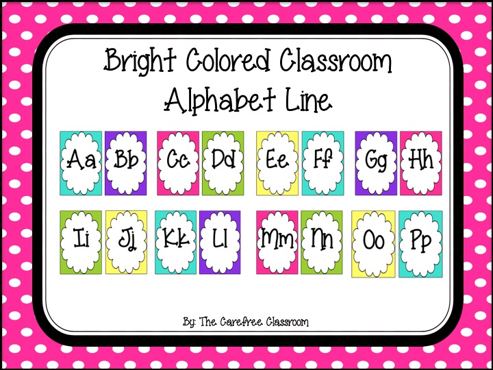 Alphabet Line: Bright Colored