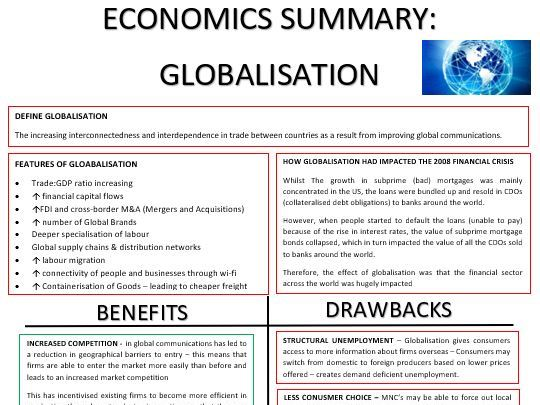 A-Level - Economics - Gloabalisation
