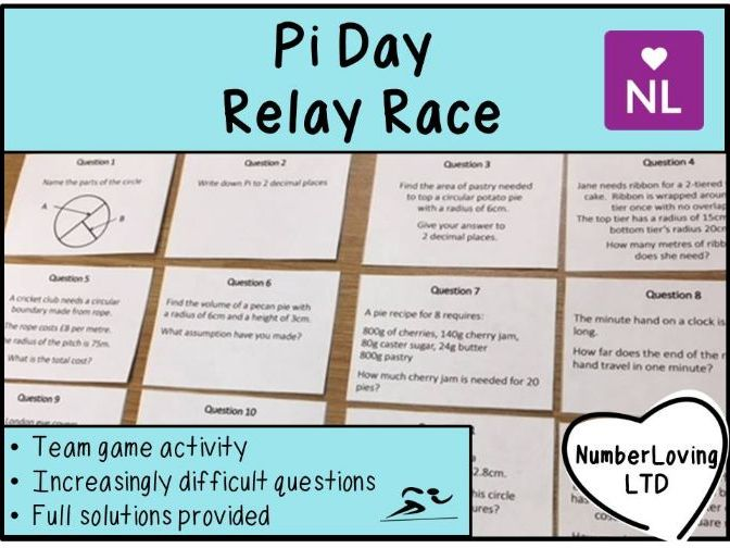 Pi Day Relay Race