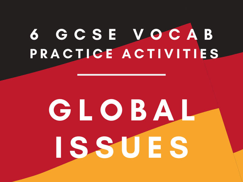 GCSE German 'Global Issues' Vocab Worksheet